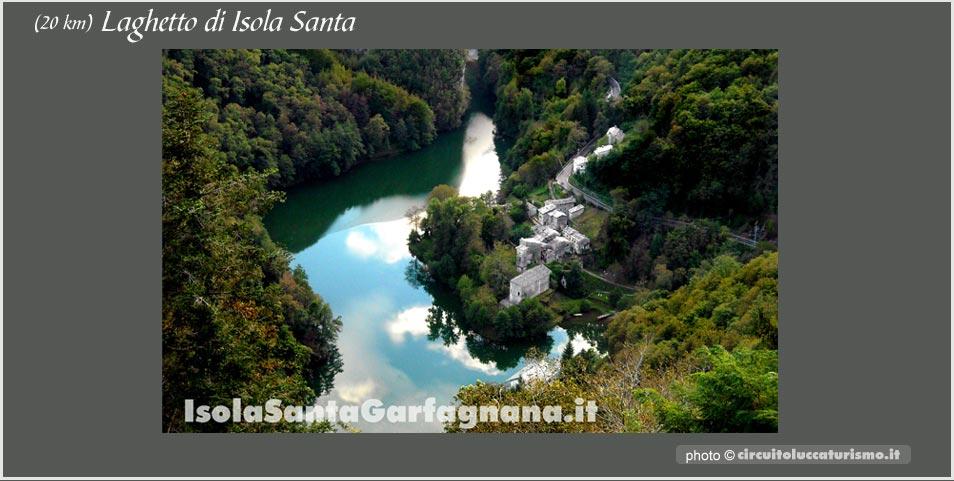 Isola Santa vista dal Ceragetta Resort Panoramico, parco Alpi Apuane, Lucca